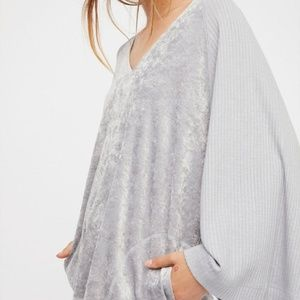 FREE PEOPLE | Intimately Velvet Silver Hoodie Boho